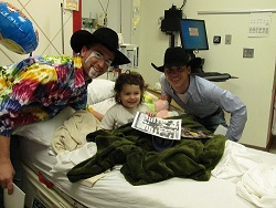 YMBL Rodeo Clowns visiting Children at Baptist Beaumont Hospital
