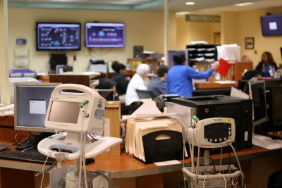 machines and people in an ER