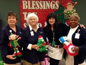 group of volunteers during holiday season